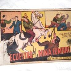 Tebeos: BOB TAILER EL JUSTICIERO Nº 5 SECUESTRO DE LA MINA SOMBRIA EDITORIAL VALENCIANA AÑO 1945. Lote 140052590