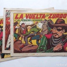Tebeos: LOTE 3 TEBEOS EL PEQUEÑO LUCHADOR, FORMATO GRANDE, VALENCIANA. Lote 140279714