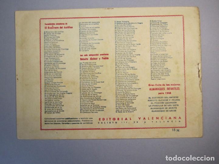 Tebeos: GUERRERO DEL ANTIFAZ, EL (1943, VALENCIANA) 18 · IV-1945 · ENCUENTRO INESPERADO - Foto 2 - 140529230