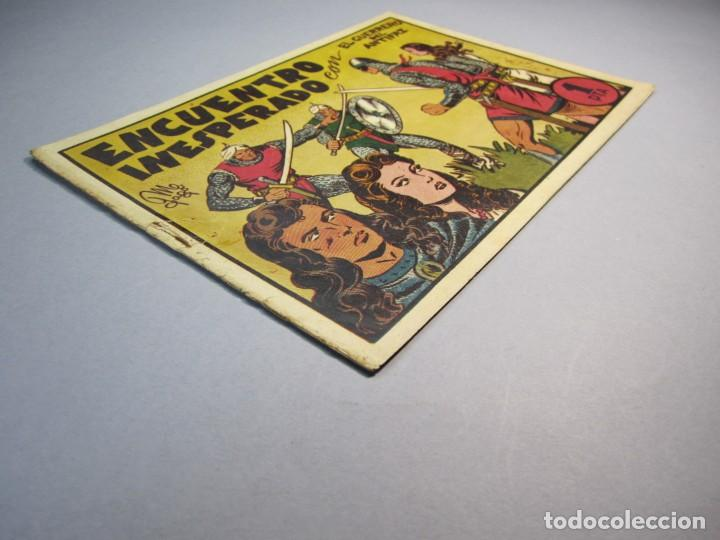 Tebeos: GUERRERO DEL ANTIFAZ, EL (1943, VALENCIANA) 18 · IV-1945 · ENCUENTRO INESPERADO - Foto 3 - 140529230