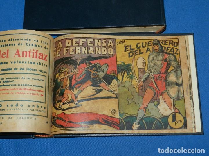 Tebeos: (M4) EL GUERRERO DEL ANTIFAZ , LOTE DEL NUM 1 AL NUM 60 , ENCUADERNADO EN DOS VOLUMENES - Foto 8 - 140914526
