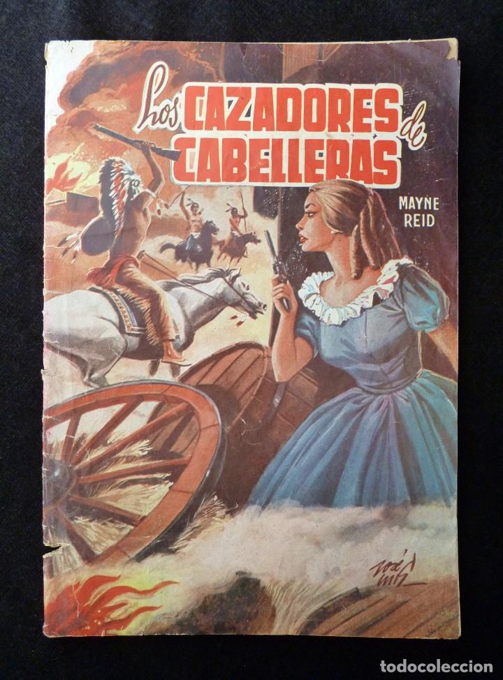 LOS CAZADORES DE CABELLERAS. SELECCIÓN AVENTURAS ILUSTRADAS. 1ª ED. 1959. EDITORIAL VALENCIANA (Tebeos y Comics - Valenciana - Selección Aventurera)