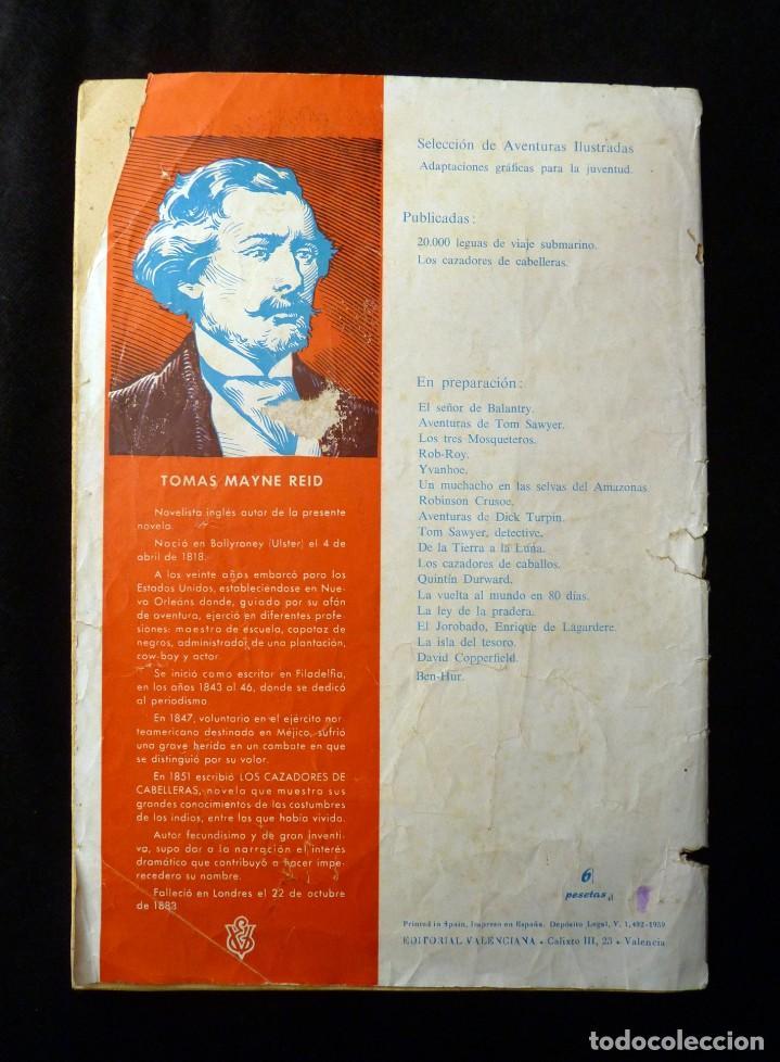 Tebeos: LOS CAZADORES DE CABELLERAS. SELECCIÓN AVENTURAS ILUSTRADAS. 1ª ED. 1959. EDITORIAL VALENCIANA - Foto 2 - 142027974