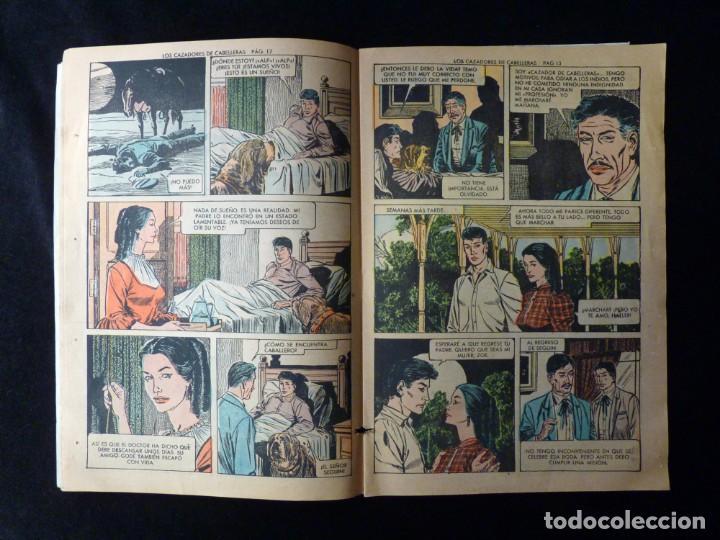 Tebeos: LOS CAZADORES DE CABELLERAS. SELECCIÓN AVENTURAS ILUSTRADAS. 1ª ED. 1959. EDITORIAL VALENCIANA - Foto 3 - 142027974