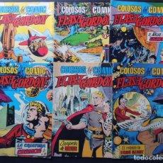 Tebeos: LOTE 6 EJEMPLARES / FLASH GORDON / COLOSOS DEL COMIC ( 9-11-12-14-16-26 ) VALENCIANA / SIN USAR. Lote 142068906