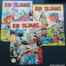 Tebeos: LOTE 3 EJEMPLARES / KID TEJANO / COLOSOS DEL COMIC ( 1-4-9 ) VALENCIANA / SIN USAR. Lote 142072370
