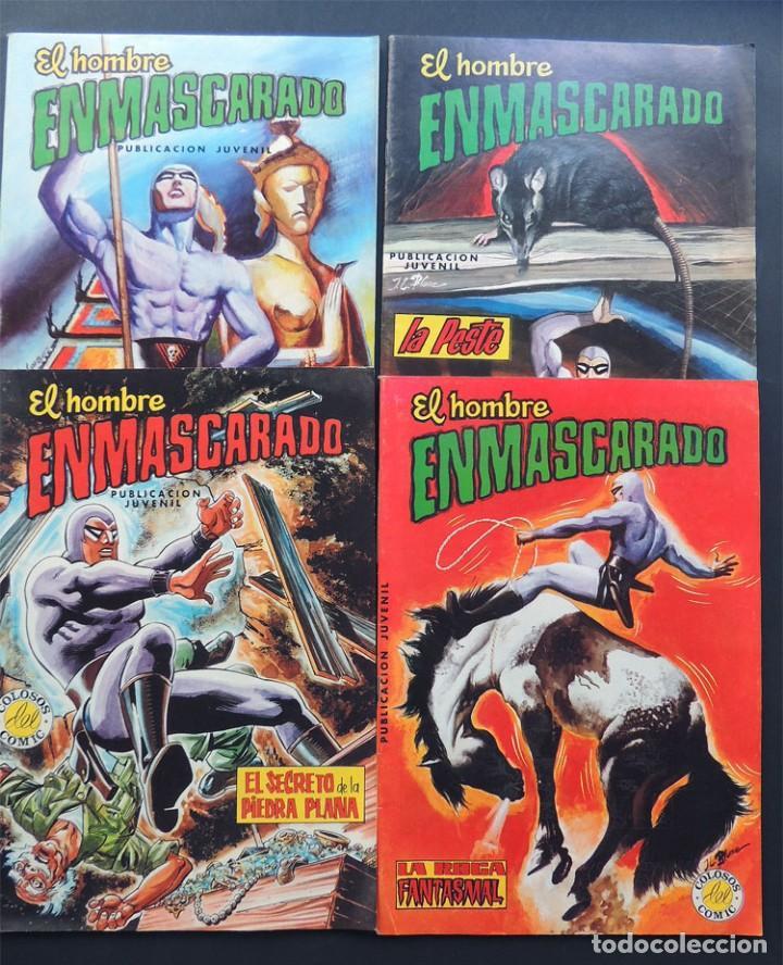 LOTE 4 EJEMPLARES / EL HOMBRE ENMASCARADO / COLOSOS DEL COMIC ( 17-24-25-52 ) VALENCIANA / SIN USAR (Tebeos y Comics - Valenciana - Colosos del Comic)