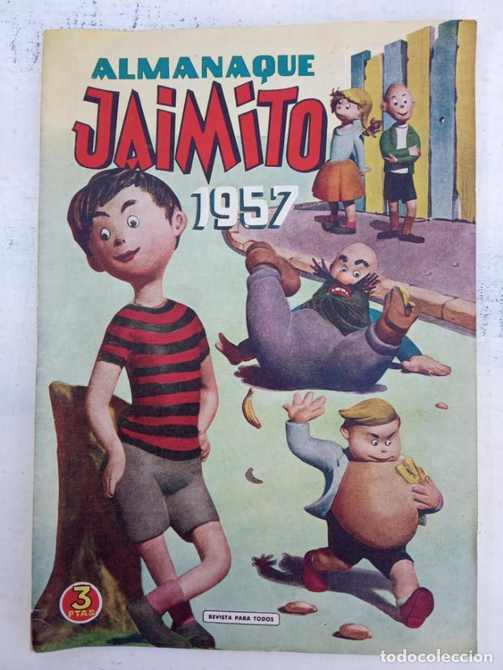 JAIMITO ALMANAQUE 1957 ORIGINAL - MUY, MUY NUEVO - VER IMÁGENES (Tebeos y Comics - Valenciana - Jaimito)