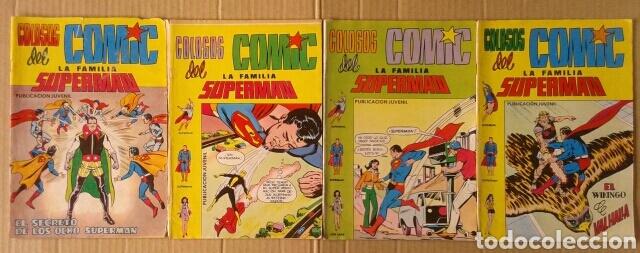 LOTE LA FAMILIA SUPERMÁN: NÚMEROS 5-7-8-9 (VALENCIANA). CON HISTORIAS DE BATMAN, LOIS LANE Y SHAZAM (Tebeos y Comics - Valenciana - Colosos del Comic)