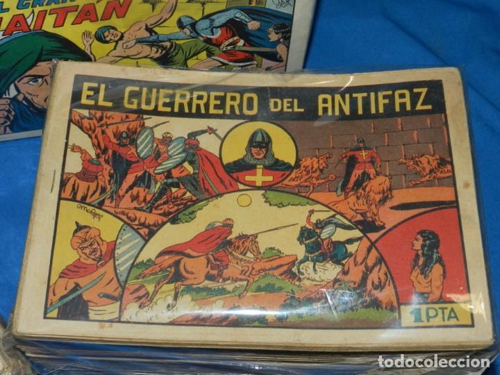 Tebeos: (MF) COLECCION GUERRERO DEL ANTIFAZ , EDT VALENCIANA , A FALTA DE 7 NUM - DEL NUM 1 AL NUM 668 - Foto 2 - 142457298