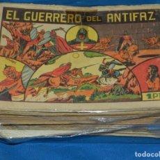 Tebeos: (M3) EL GUERRERO DEL ANTIFAZ - LOTE DE 100 NUMEROS ,DEL NUM 1 AL NUM 100 FALTA EL NUM 56 VALENCIANA. Lote 142580262