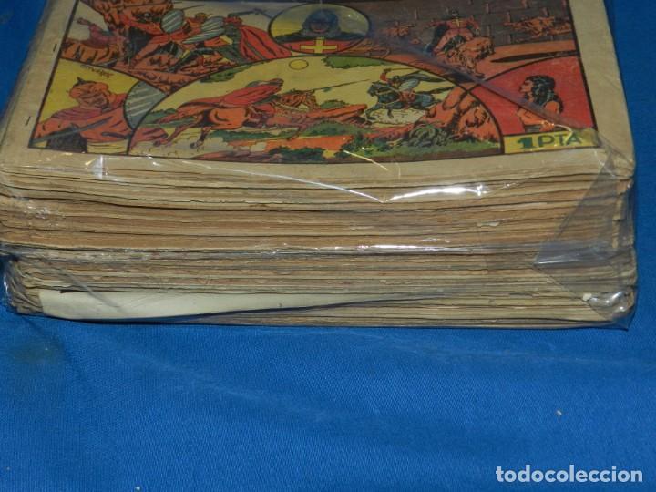Tebeos: (M3) EL GUERRERO DEL ANTIFAZ - LOTE DE 100 NUMEROS ,DEL NUM 1 AL NUM 100 FALTA EL NUM 56 VALENCIANA - Foto 4 - 142580262