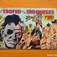 Tebeos: YUKI EL TEMERARIO - EL TROFEO DE LOS IROQUESES, Nº 12 - EDITORIAL VALENCIANA 1958 . Lote 142883290
