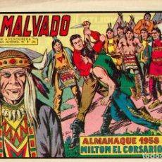 Tebeos: MILTON EL CORSARIO - ALMANAQUE 1958. Lote 143005890