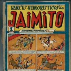 Tebeos: LANCES HUMORISTICOS DE JAIMITO Nº 22 - VALENCIANA CIRCA 1947 - ORIGINAL - PROCEDE DE ENCUADERNACION. Lote 143076942