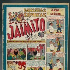 Tebeos: GANSADAS COMICAS DE JAIMITO - Nº 48 - VALENCIANA CIRCA 1948 - ORIGINAL - PROCEDE DE ENCUADERNACION. Lote 143082150