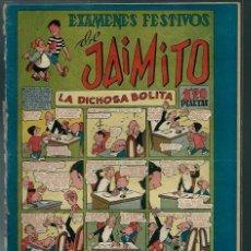 Tebeos: EXAMENES FESTIVOS DE JAIMITO - Nº 49 - VALENCIANA CIRCA 1948 - ORIGINAL - PROCEDE DE ENCUADERNACION. Lote 143083802