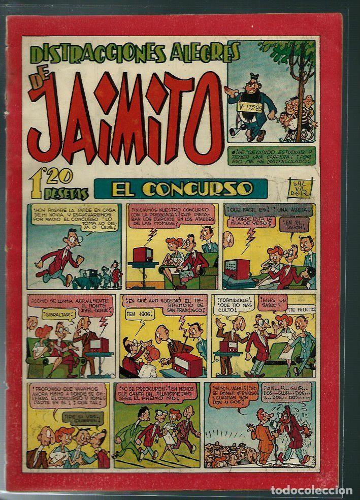 DISTRACCIONES ALEGRES DE JAIMITO Nº 98 - VALENCIANA CIRCA 1950 ORIGINAL - PROCEDE DE ENCUADERNACION (Tebeos y Comics - Valenciana - Jaimito)
