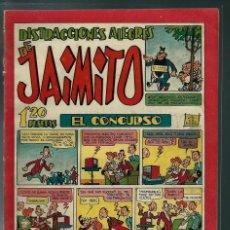Tebeos: DISTRACCIONES ALEGRES DE JAIMITO Nº 98 - VALENCIANA CIRCA 1950 ORIGINAL - PROCEDE DE ENCUADERNACION. Lote 143087738