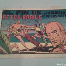 Tebeos: EL PEQUEÑO ENMASCARADO Y PANDILLA. LA PANDILLA DE LOS SIETE, NÚM. 66. EL FIN DE PETER BRAILE. 1945?. Lote 143468226