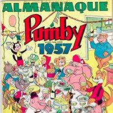 Tebeos: PUMBY ALMANAQUE 1957 + REGALO Nº 214 = IMPECABLES LOS DOS =VER FOTOS= FIRMA DE ANTERIOR PROPIETARIO. Lote 144588518