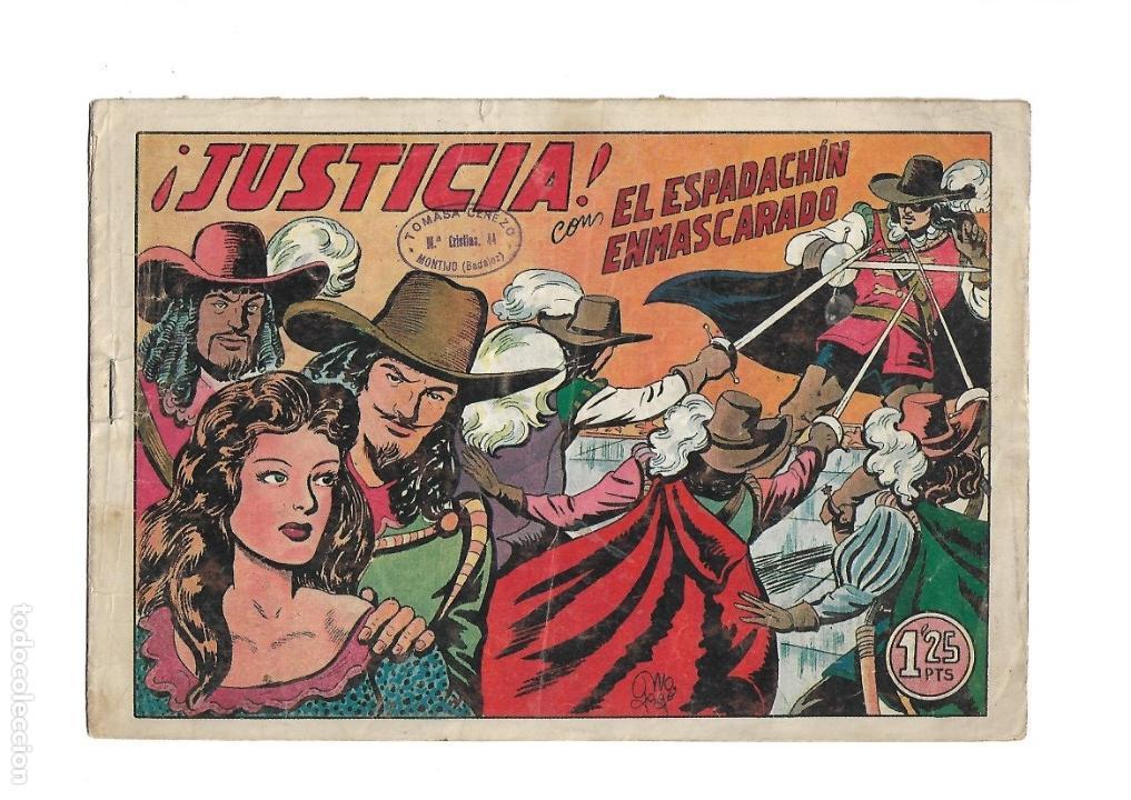 Tebeos: El Espadachin Enmascarado, Año 1952 Colección Completa son 252 + 2 Almanaques 1956 y 1957 Originales - Foto 12 - 131652022