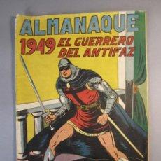 Tebeos: GUERRERO DEL ANTIFAZ, EL (1943, VALENCIANA) EXTRA 4 · XI-1948 · ALMANAQUE 1949. Lote 145813282