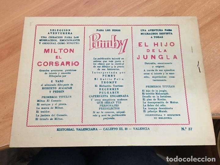 Tebeos: EL HIJO DE LA JUNGLA Nº 37 (ORIGINAL VALENCIANA) (COIM16) - Foto 2 - 145895086