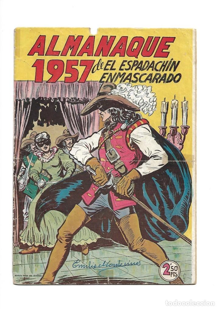 Tebeos: El Espadachin Enmascarado, Año 1952 Colección Completa son 252 + 2 Almanaques 1956 y 1957 Originales - Foto 8 - 131652022