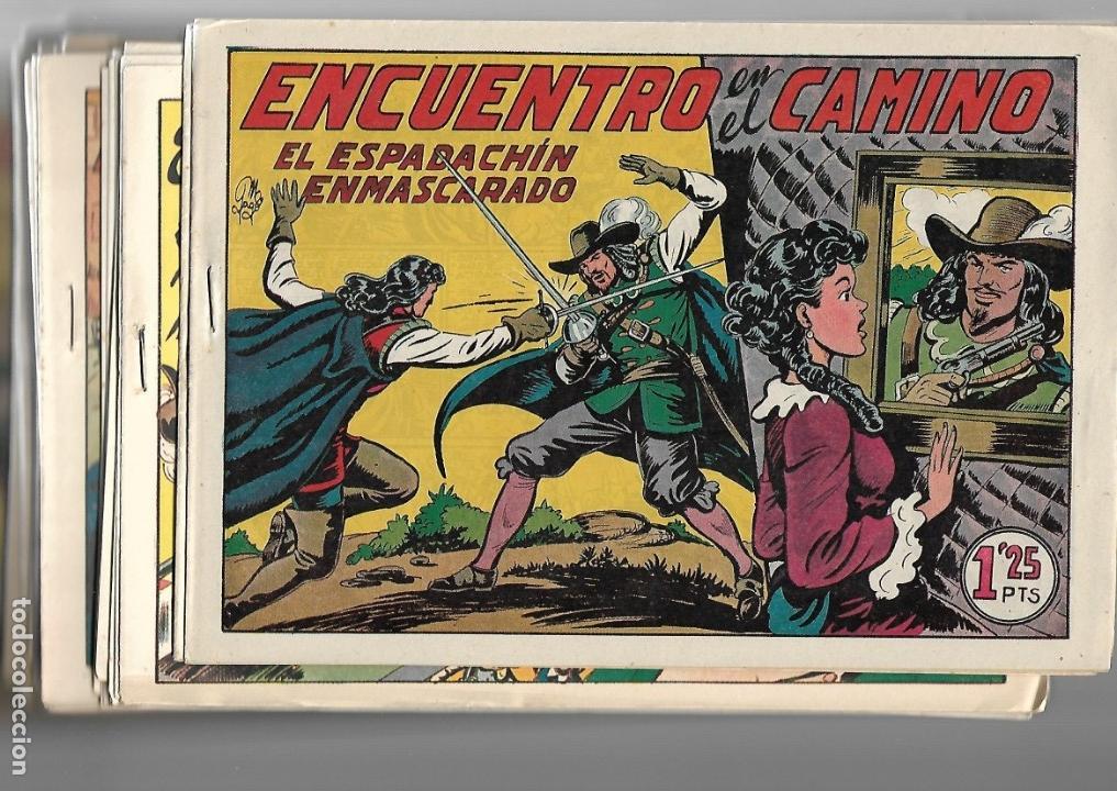 Tebeos: El Espadachin Enmascarado, Año 1952 Colección Completa son 252 + 2 Almanaques 1956 y 1957 Originales - Foto 16 - 131652022
