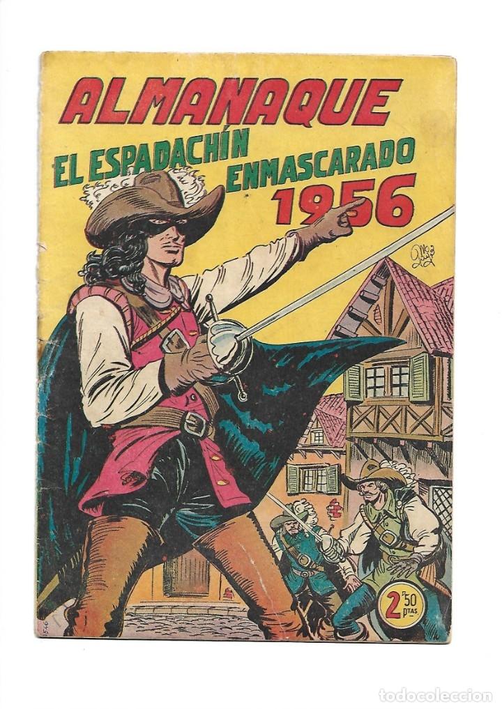 EL ESPADACHIN ENMASCARADO, AÑO 1952 COLECCIÓN COMPLETA SON 252 + 2 ALMANAQUES 1956 Y 1957 ORIGINALES (Tebeos y Comics - Valenciana - Espadachín Enmascarado)