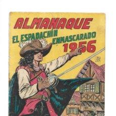 Tebeos: EL ESPADACHIN ENMASCARADO, AÑO 1952 COLECCIÓN COMPLETA SON 252 + 2 ALMANAQUES 1956 Y 1957 ORIGINALES. Lote 131652022