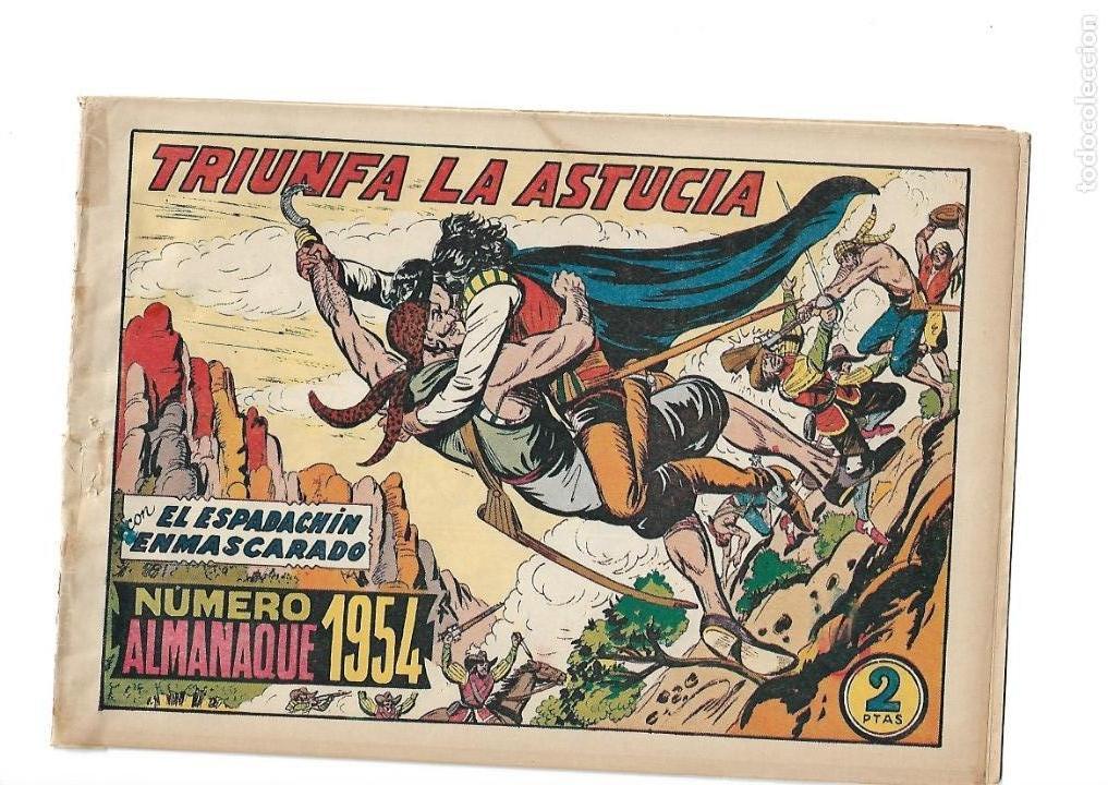Tebeos: El Espadachin Enmascarado, Año 1952 Colección Completa son 252 + 2 Almanaques 1956 y 1957 Originales - Foto 2 - 131652022