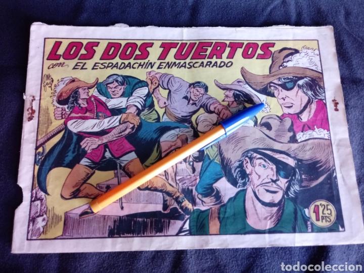 LOS DOS TUERTOS CON EL ESPADACHÍN ENMASCARADO. ORIGINAL AÑOS 50. 1,25 PTS (Tebeos y Comics - Valenciana - Espadachín Enmascarado)