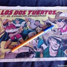 Tebeos: LOS DOS TUERTOS CON EL ESPADACHÍN ENMASCARADO. ORIGINAL AÑOS 50. 1,25 PTS. Lote 145973024