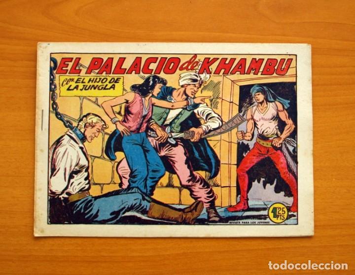 EL HIJO DE LA JUNGLA - Nº 19, EL PALACIO DE KHAMBU - EDITORIAL VALENCIANA 1956 - SIN ABRIR (Tebeos y Comics - Valenciana - Hijo de la Jungla)