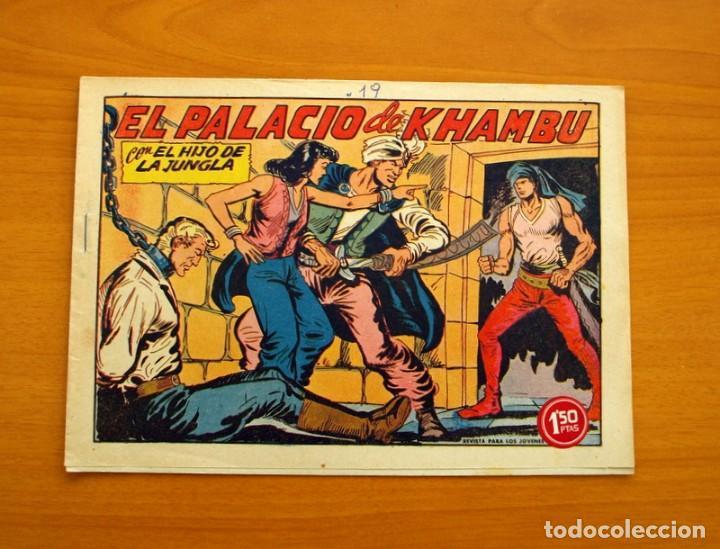 EL HIJO DE LA JUNGLA - Nº 19, EL PALACIO DE KHAMBU - EDITORIAL VALENCIANA 1956 (Tebeos y Comics - Valenciana - Hijo de la Jungla)