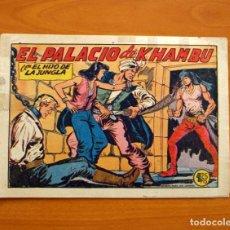Tebeos: EL HIJO DE LA JUNGLA - Nº 19, EL PALACIO DE KHAMBU - EDITORIAL VALENCIANA 1956 - SIN ABRIR. Lote 146004522