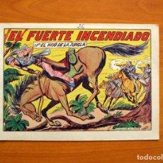 Tebeos - El Hijo de la Jungla - Nº 26, El Fuerte incendiado - Editorial Valenciana 1956 - 146005162