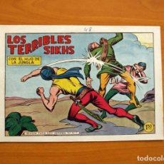 Tebeos: EL HIJO DE LA JUNGLA - Nº 48, LOS TERRIBLES SIKHS - EDITORIAL VALENCIANA 1956 . Lote 146006966