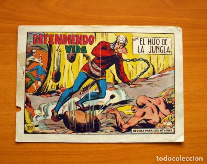EL HIJO DE LA JUNGLA - Nº 82, DEFENDIENDO LA VIDA - EDITORIAL VALENCIANA 1956 (Tebeos y Comics - Valenciana - Hijo de la Jungla)