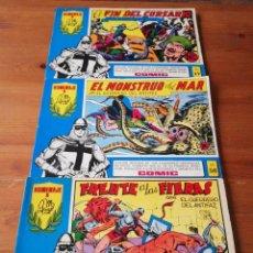 Tebeos: LOTE DE 3 COMICS EL GUERRERO DEL ANTIFAZ. NÚMEROS: 5-17-56. 1981. SEGUNDA ÉPOCA. . Lote 146213942