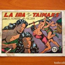 Tebeos: EL HOMBRE DE PIEDRA, Nº 34, LA IRA DE LOS TAIMAKS - EDITORIAL VALENCIANA 1950. Lote 146345022