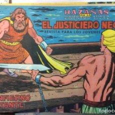 Tebeos: HAZAÑAS DE LA JUVENTUD AUDAZ EL JUSTICIERO NEGRO 6 COMICS. Lote 146349290