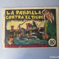 Tebeos: PANDILLA DE LOS SIETE, LA (1945, VALENCIANA) -EL PEQUEÑO ENMASCARADO- 4 · 1945 · LA PANDILLA CONTRA . Lote 146389278