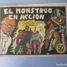 Tebeos: PANDILLA DE LOS SIETE, LA (1945, VALENCIANA) -EL PEQUEÑO ENMASCARADO- 9 · 1945 · EL MONSTRUO EN ACCI. Lote 146391890
