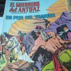 Tebeos: EL GUERRERO DEL ANTIFAZ PUBLICACION JUVENIL EN POS DEL TRAIDOR Nº 128 EDIT VALENCIANA AÑO 1972. Lote 146505126