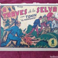 Tebeos: TEBEO - A TRAVES DE LA SELVA CON TONIN EL HUERFANITO. Lote 147153301