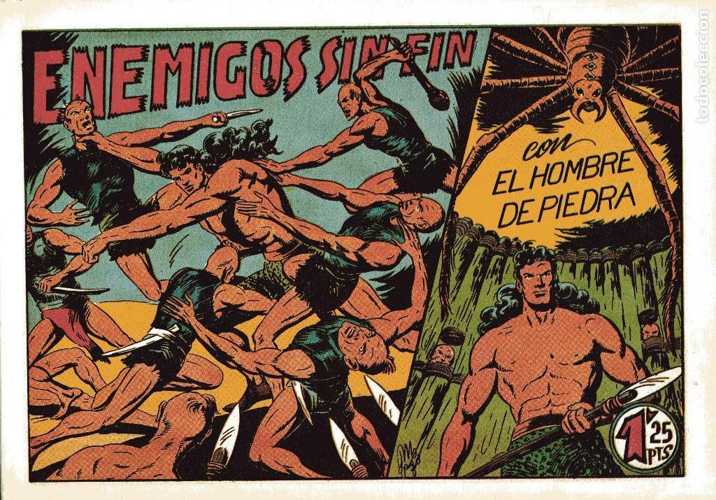 Tebeos: GAGO:PURK EL HOMBRE DE PIEDRA Nº2+EL HIJO DE LA JUNGLA Nº5-VALENCIANA-FACSIMIL - Foto 2 - 147263786