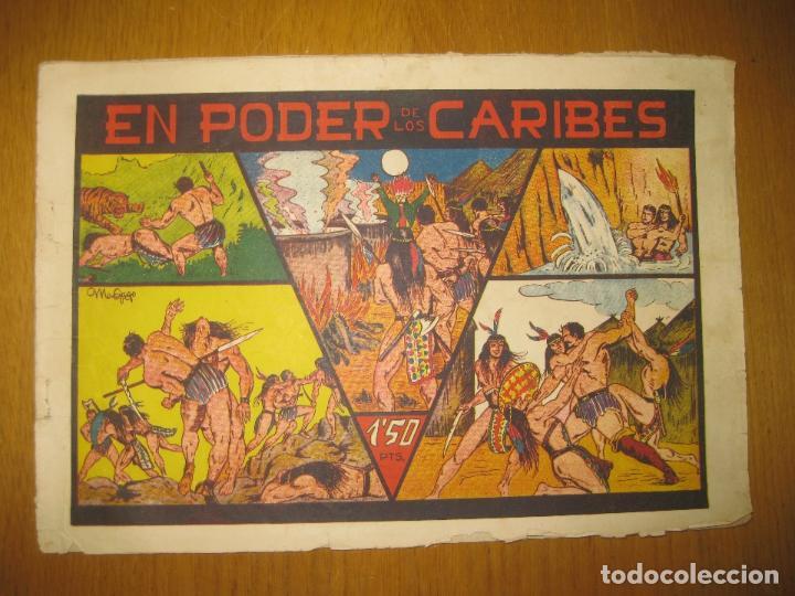 EN PODER DE LOS CARIBES. EDITORIAL VALENCIANA. ORIGINAL. (Tebeos y Comics - Valenciana - Otros)